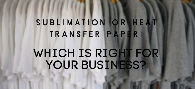 Sublimation or Heat Transfer Blog Header